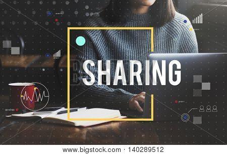Sharing Online Mesaging Concept