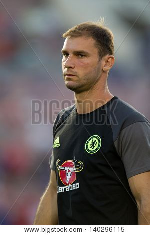 PASADENA, CA - JUNE 4: Branislav Ivanovic during the 2016 ICC game between Chelsea & Liverpool on July 27th 2016 at the Rose Bowl in Pasadena, Ca.