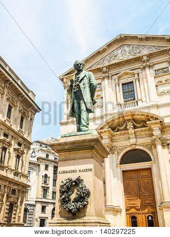 Manzoni Statue, Milan Hdr