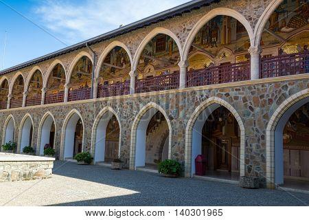 Holy Monastery of the Virgin of Kykkos. Cyprus. Courtyard