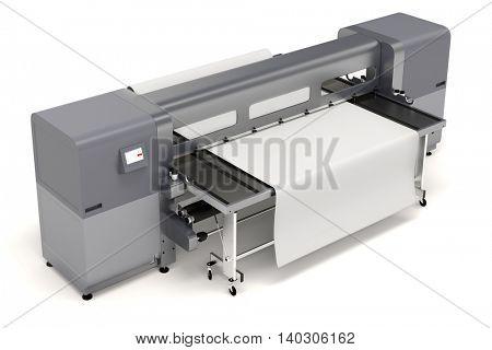 3d plotter large format printing on white background