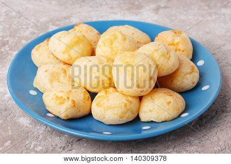 Brazilian Snack Cheese Bread (pao De Queijo) On Plate