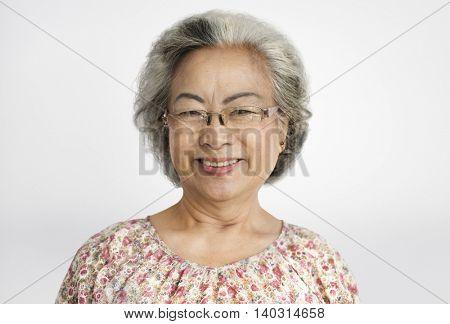 Grandma Lady Positive Motivation Smile Concept