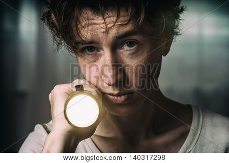 Woman Lighting Ahead