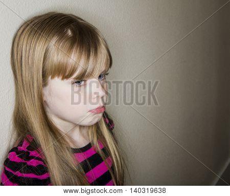 Ver sad child having a rough day