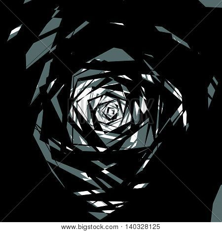 Colorless Abstract Edgy Illustration, Rough Monochrome Texture