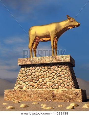 The golden calf as described in the book of Exodus