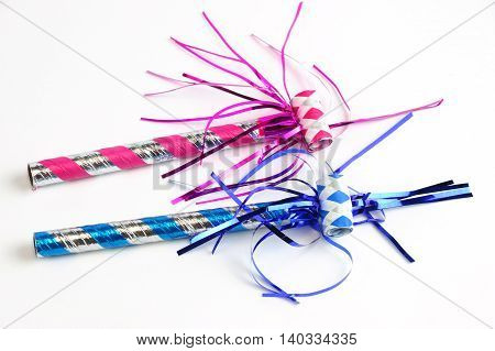 party blower isolated on white background for design