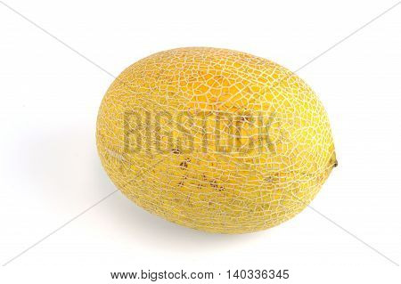 honey gold melon isolated on white background