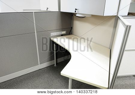 empty cubicles inside office building, place of work