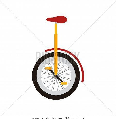 Monocycle on white background. Design element for poster, t-shirt.