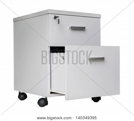 drawer isolated on white background, Drawer chest