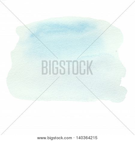 Abstract hand drawn watercolour background. Blue Abstract Watercolor round spot. Hand Painted watercolour stain texture