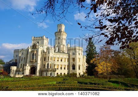castle neogothic Hluboka nad Vltavou. Built in the thirteenth century and has undergone several renovations until now look like it.
