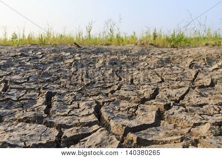 lake that dried up, global warming, drought crack