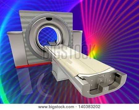 computer tomographic scanner 3d illustration