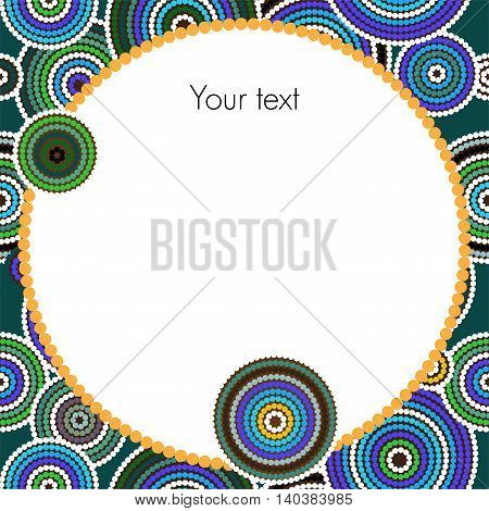 Aboriginal dots and circles art vector background