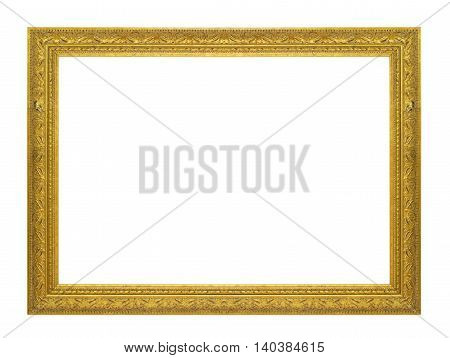 gold picture frame. Isolated over white background