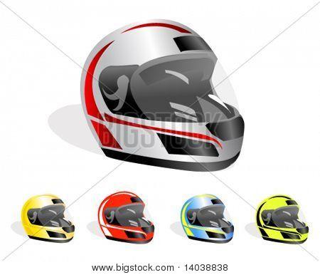 set of vector racing helmets