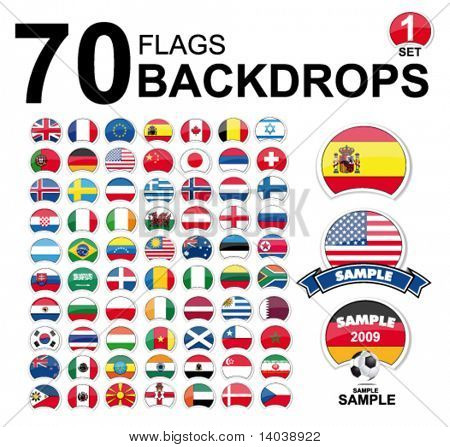 vector flags of the world - design set