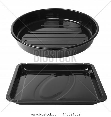 baking tray isolated on a white background