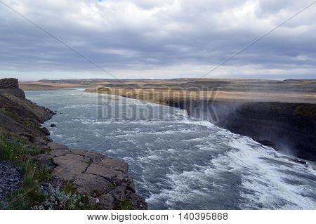 Photo of a ragging river in Iceland