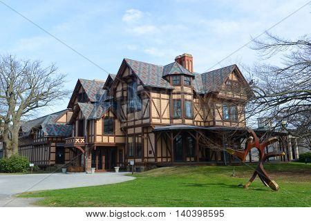 John N. A. Griswold House is home to the Newport Art Museum with American Stick Style on Bellevue Avenue, Newport, Rhode Island, USA. This house was built in 1864 for John Griswold.