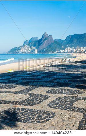 Early Morning On The Ipanema Beach, Rio De Janeiro, Brazil