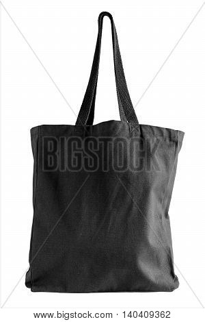 Black Fabric Tote Bag