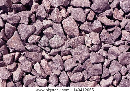 Abstract Pattern Of Gravel Pile.