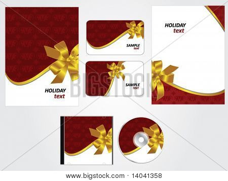 gift and holiday design set