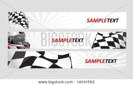 racing web banners