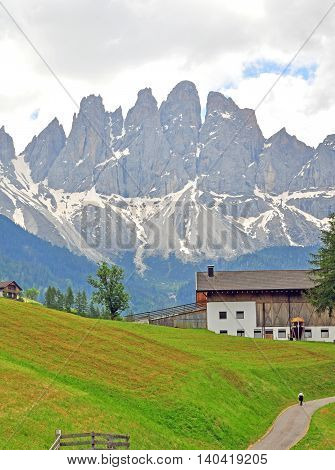St. Maddalena village in Tyrol province, Italy