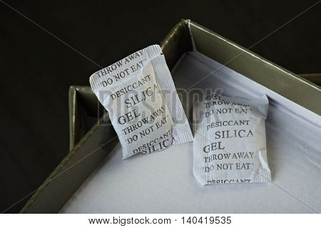 Silica Gel On Opened Box