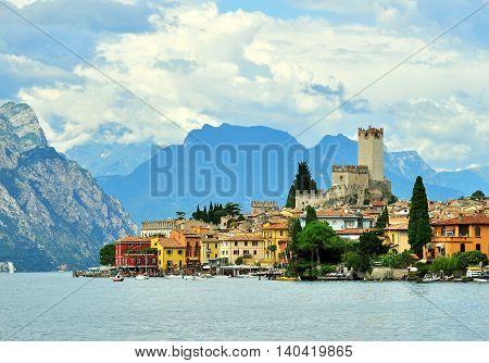 Malcesine on Garda lake, provice of northern Italy