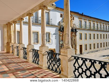 Coimbra university architectural details, heritage of Portugal
