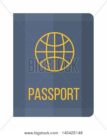 Vector illustration passport isolated. Holiday passport vector icon, vocation passport concept. Passport travel, tourism business vacation, trip pass tourist flight symbol.