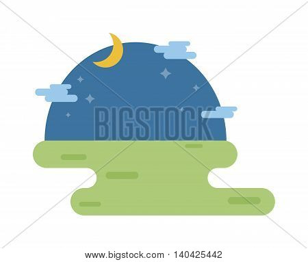 Fantasy landscape at night, vector night background and night background blue sky, bright star space light. Night background galaxy cloud landscape and shiny universe texture night background.