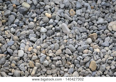 A pile of small to medium sized rocks
