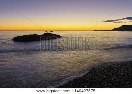 Early morning Kaikoura Coast South Island New Zealand