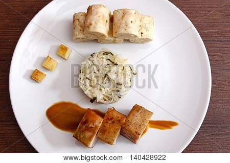 Pork Belly With Cabbage And Bread Dumplings.