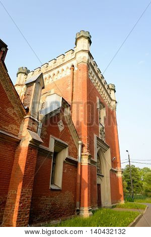 Imperial stables built in the style of English Gothic near St.Petersburg Russia. Architect Benois were built - from 1848 to 1855.