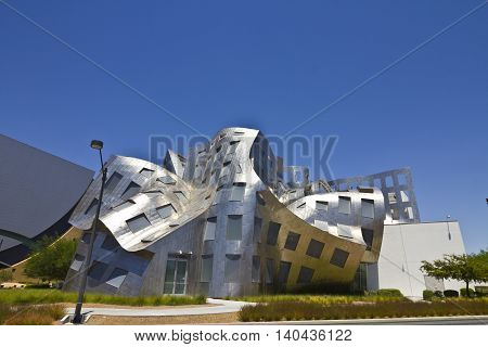Las Vegas - Circa July 2016: The Cleveland Clinic Lou Ruvo Center for Brain Health. Designed by the architect Frank Gehry the clinic opened in 2010 III
