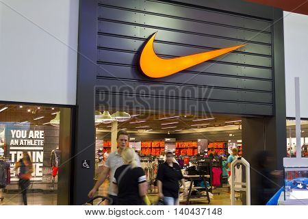 Las Vegas - Circa July 2016: Nike Shoes Retail Mall Location. Nike is one of the world's largest suppliers of athletic shoes and apparel I