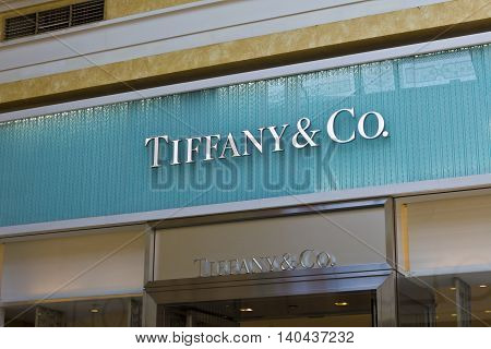 Las Vegas - Circa July 2016: Tiffany & Co. Retail Mall Location. Tiffany's is a Luxury Jewelry and Specialty Retailer Headquartered in New York City III