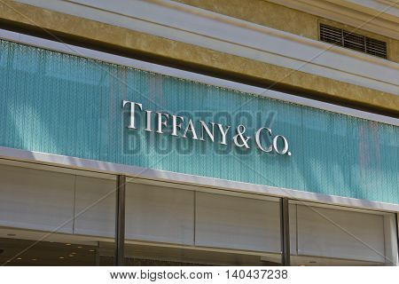 Las Vegas - Circa July 2016: Tiffany & Co. Retail Mall Location. Tiffany's is a Luxury Jewelry and Specialty Retailer Headquartered in New York City II