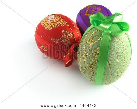 Easter Painted Egg Tied Up By Tapes 3