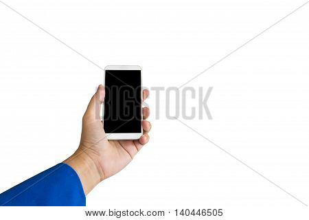 Isolated Business Women Hand Smartphone Or Mobile Phone