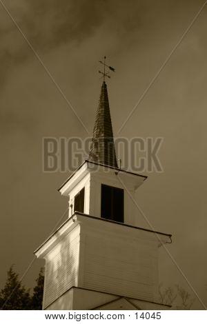 Church Steeple-Sepia