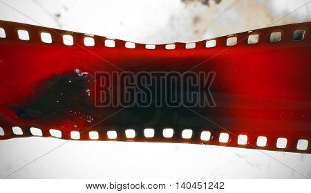 old 35 mm film melting